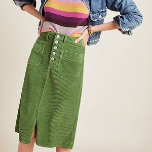 Anthropologie Pilcro wide corduroy pencil skirt